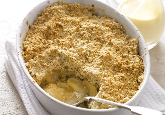 Le Crumble à la banane pour une recette anglaise ! dans Cuisine Crumble-pommes-bananes